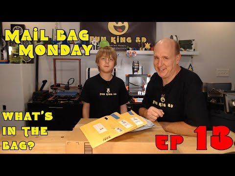 Mail Bag Monday Episode 13- Lots of COOL 3D Printed Items and some Filament!