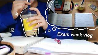 Korean high school exam week vlog