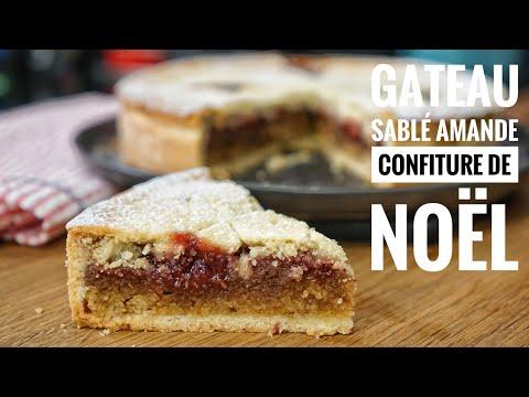 gâteau-sablé-amande-confiture,-ma-recette-facile-!