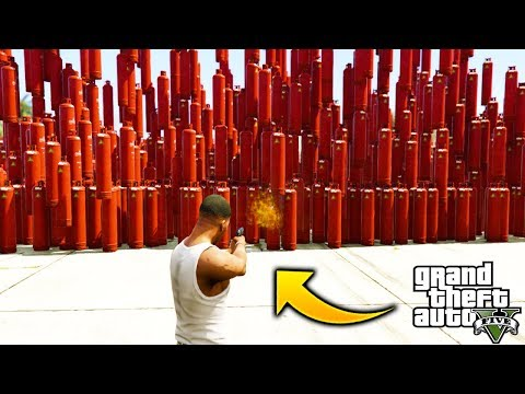 ¿Que Pasa Si Explotamos +1000 Tanques de Gas en GTA 5 Se Rom