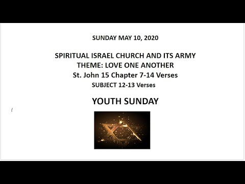V SICIA EAST YOUTH SUNDAY 5 10 20