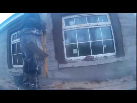 RENDERING AND CUTTING WINDOW BANDS PLASTERING