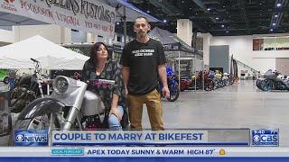 Pair plan wedding at Bikefest in Raleigh this weekend