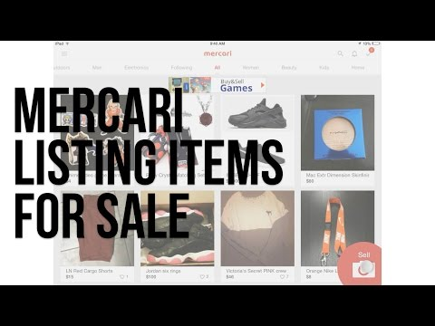 Listing an item on Mercari App