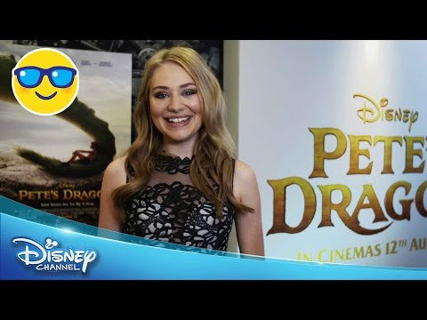 Pete's Dragon  Georgia Lock at the European Premiere   Disney Channel UK