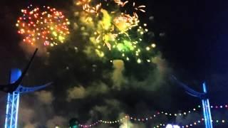 Andy C And Armanni Reign @ EDC Las Vegas 2014 intro at BassaPod (Fireworks) HD