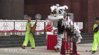 Lion dance troupes praying before competition at Ngee Ann City. 14 September 2019