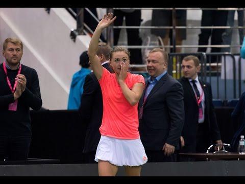 Aliaksandra Sasnovich wins the opening rubber in Minsk