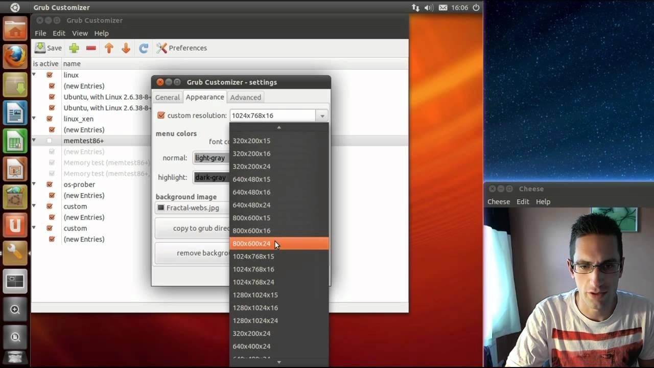 Customising Grub Boot Menu in Ubuntu with Grub Customizer