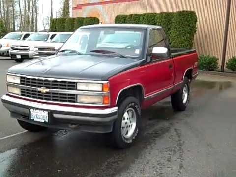 Sold 1990 Chevrolet Silverado 1500 4wd Enumclaw Seattle Puyallup