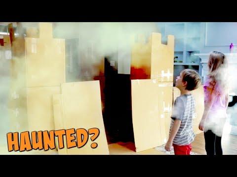 Haunted Box Fort Castle!  ft. KIDZ BOP kids 2017 - SuperHeroKids
