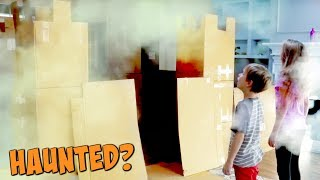 Haunted Box Fort Castle!  ft. KIDZ BOP kids 2017 - SuperHeroKids