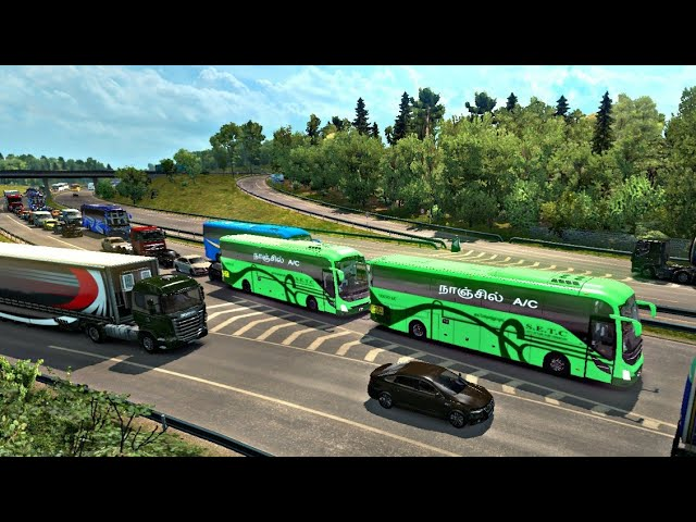 New SETC Volvo bus mod | Euro truck simulator 2 | ETS2 | SETC bus driving B9R | IND horn | T.N.S.T.C #1