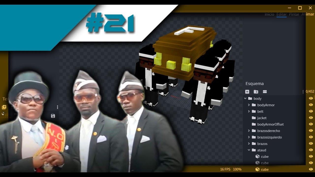 Skin 10D Coffin Dance Minecraft Bedrock  TimeLapse  Skyrrel