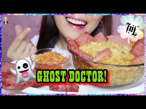 ghost-doctor-in-south-korea!-(spicy-ramen,-kimchi,-spam)-먹방-|-eating-show-|-hey-it's-jho-🍀