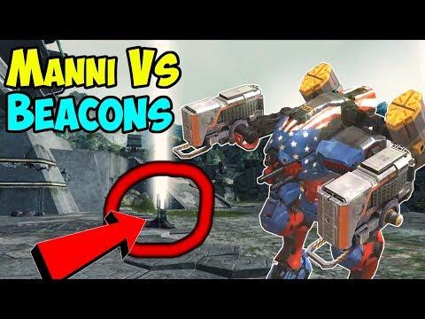 War Robots Manni Vs Beacons? Funny WR Gameplay