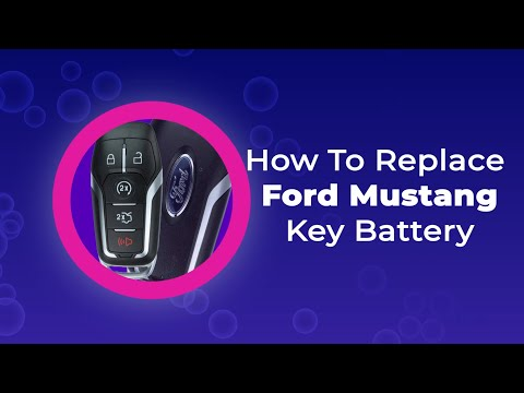 How To Replace Ford Mustang Key Battery