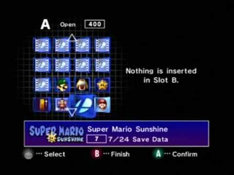 Nintendo Gamecube Menu Walkthrough YouTube