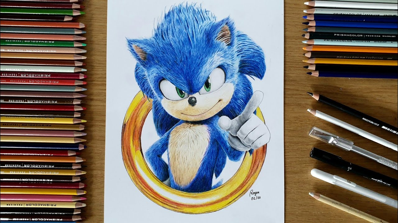Drawing Sonic The Hedgehog 2020 Movie Youtube