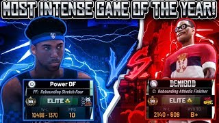 THE MOST INTENSE PARK GAME OF THE YEAR! 99 OVERALL VS 99 OVERALL (MUST WATCH) NBA 2K19