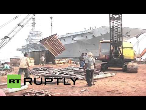 India: See India's first aircraft carrier turned to scrap