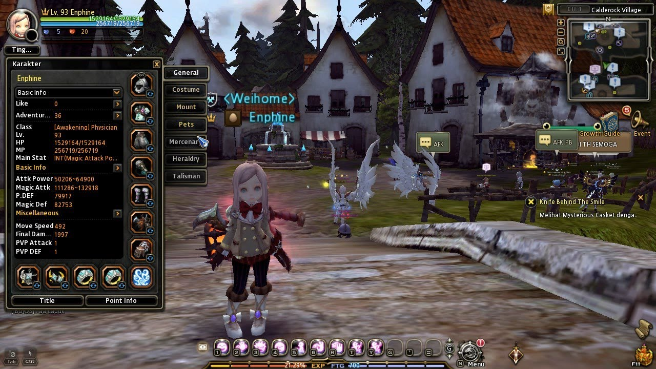 Dragon Nest Physician Level 93 Gameplay Solo + Skill Build + Low Equip