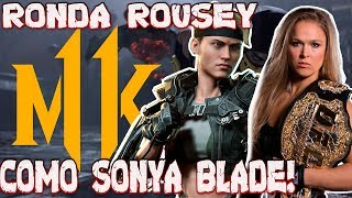Mortal Kombat 11 - Estrelando Ronda Rousey como Sonya Blade!