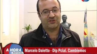 Dip Marcelo Daletto   Recorrida por las obras del Hospital Municipal
