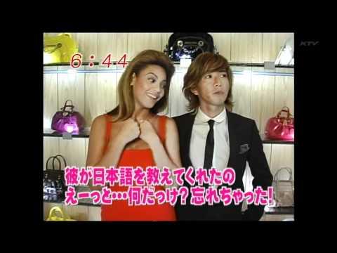 082011 Beyonce & Takuya Kimura making of Samantha Thavasa Ads