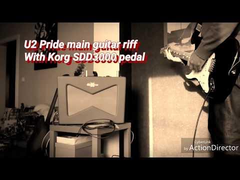 U2 Pride main guitar riff - Test Korg SDD3000 pedal with US Strat and Fender Vaporizer