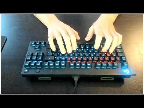 Logitech G Pro Keyboard Sound Test (GX Red Linear)