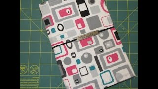How I Make My Fabric Travelers Notebook (Fauxdori with finished edges)