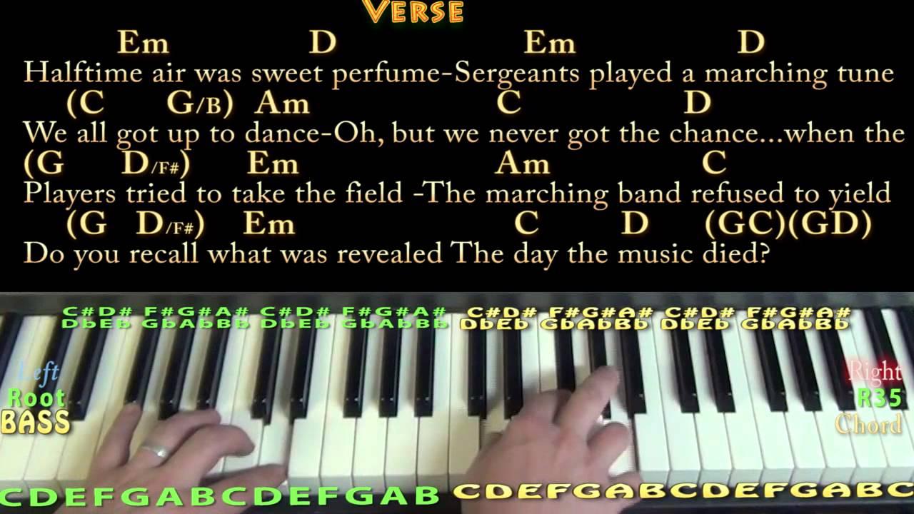 American pie don mclean piano cover lesson with chordslyrics american pie don mclean piano cover lesson with chordslyrics baditri Image collections
