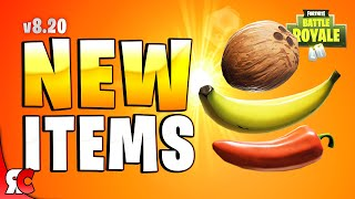 Fortnite Patch 8.20 | NEW Consumable Item Effects And How To Find Them (Banana, Coconut & Peppers)