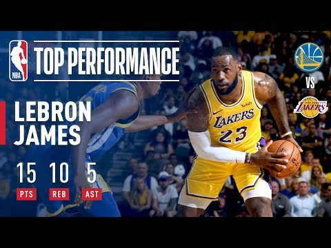 LeBron James Fills Up the Stat Sheet vs. Warriors In Just 18 Minutes! (VIDEO)