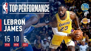 LeBron Fills Up the Stat Sheet VS Warriors (15p, 10r, 5a) In Just 18 Minutes! | 2018 NBA Preseason