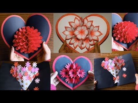 4 Simple & Beautiful Pop-Up Cards - Paper Crafts  -  DIY Crafts Compilations