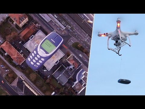 NOKIA 3310 DRONE DROP TEST FROM 1,000 FEET!