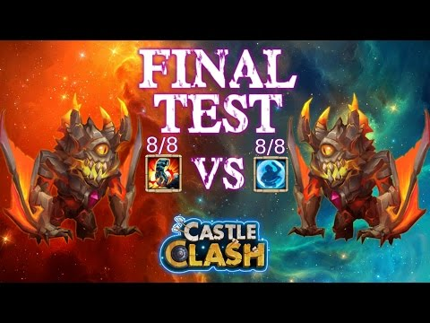 Castle Clash Bulwark Ghoulem Vs Stone Skin Ghoulem Final Test