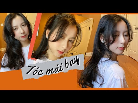 Cắt tóc mái bay Hàn Quốc tại nhà| Cutting my bangs at home(Korean hairstyle)