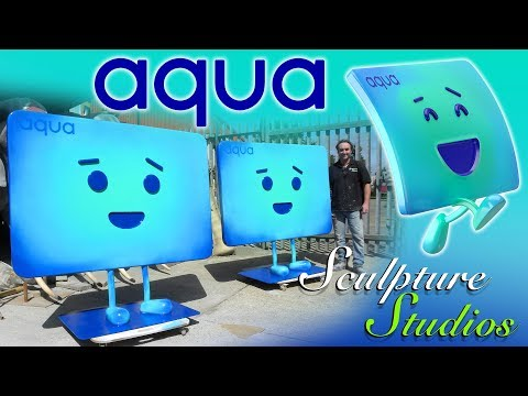 Giant Aqua Credit Card Characters By Sculpture Studios