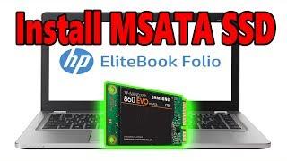 Install MSATA SSD And Window 10 On Hp Elitebook folio 9470m [i5 3437u]