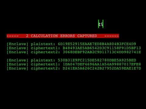 Plundervolt- Faulting AES inside SGX