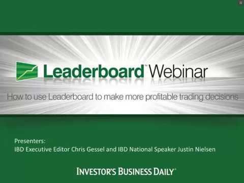 Use Leaderboard for more profitable trading decisions. 11/21/13 Webinar