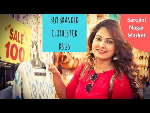 Buy Branded Clothes And Jewelry Starting From Rs 10   Sarojini Nagar Monday Market   Delhi Shopping
