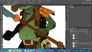 Видео урок рисование персонажа в photoshop cs6 вектор 4 часть