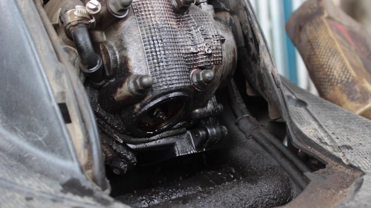Tutorial Memperbaiki Oli Mesin Yang Bocor Pada Motor Mio Youtube