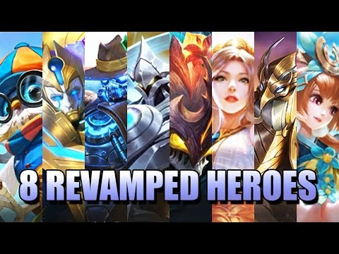 EIGHT REVAMPED HEROES IN MOBILE LEGENDS - WHO CAN CHANGE THE META?
