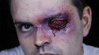 GOUGED OUT EYE! - 30 Minute FX Makeup!
