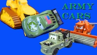 Disney Pixar Cars Army Car Lightning McQueen Army Mater Save World from Lemons Just4fun290 Sarge